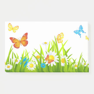 Butterflies And Flowers Post-it Notes