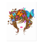 Butterflies and Flowers Postcard