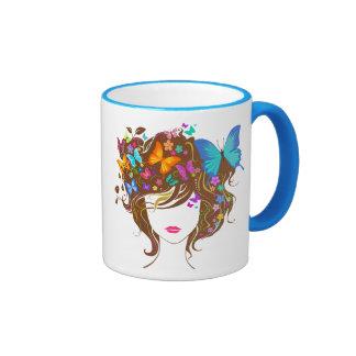 Butterflies and Flowers Ringer Mug
