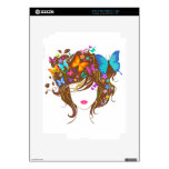 Butterflies and Flowers Skins For iPad 2