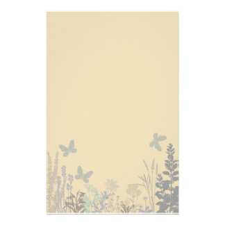 Butterflies and Flowers Stationery