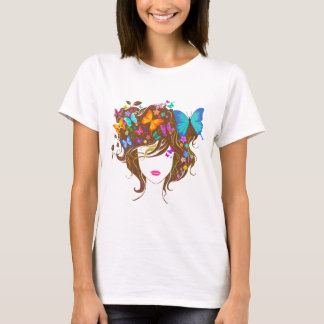 Butterflies and Flowers T-Shirt