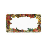 Butterflies and Flowers Vintage Border Custom Address Labels