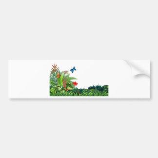 Butterflies and garden bumper sticker