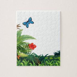 Butterflies and garden jigsaw puzzle