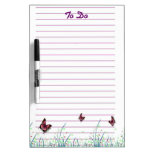 Butterflies and Grass Lined Paper To Do List Dry Erase Whiteboards