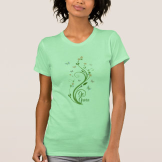 Butterflies and Green Vine Tshirts