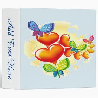 Butterflies and Hearts Vinyl Binder
