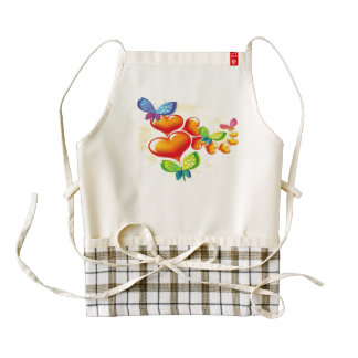 Butterflies and Hearts Zazzle HEART Apron