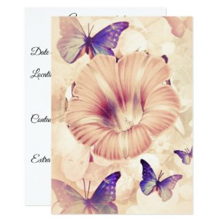 Butterflies and Lilly Card