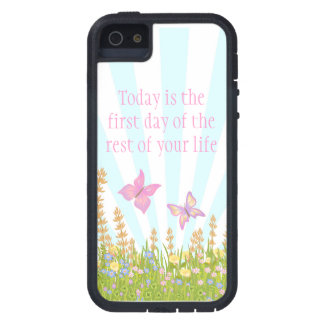 butterflies and meadow flowers with sentiment iPhone SE/5/5s case