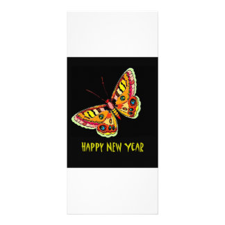 Butterflies  and Moths Happy New Year Rack Card