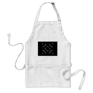 Butterflies and Number Sign Fractal Art Adult Apron