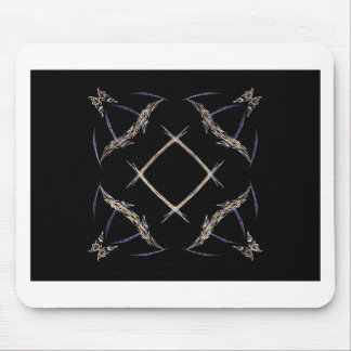 Butterflies and Number Sign Fractal Art Mouse Pad