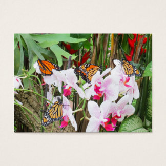 Butterflies and Orchids Business Cards/Bookmarks Business Card