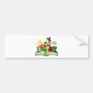 Butterflies and other insects in the book bumper sticker