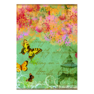 Butterflies and Pagoda Spring Green Business Cards