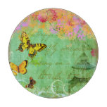 Butterflies and Pagoda Spring Green Cutting Board