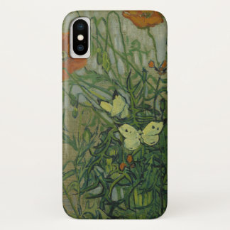 Butterflies and Poppies by Vincent van Gogh iPhone X Case