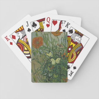 Butterflies and Poppies by Vincent Van Gogh Poker Cards