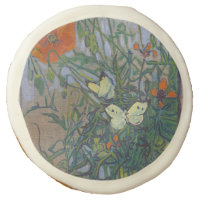 Butterflies and Poppies by Vincent van Gogh Sugar Cookie