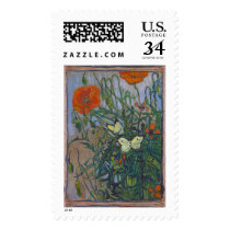 Butterflies and Poppies Postage
