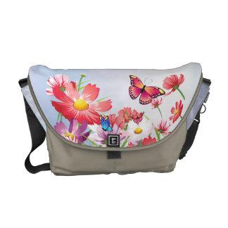 Butterflies and Poppies  Rickshaw Messenger Ba Messenger Bag