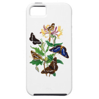 Butterflies and Red Honeysuckle iPhone SE/5/5s Case