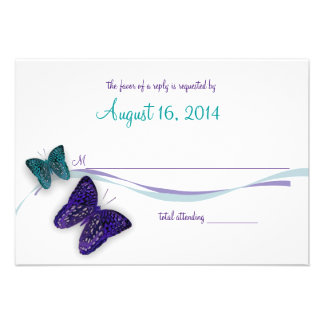 Butterflies and Ribbon Response Invitations