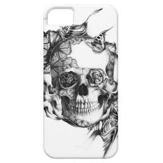 Butterflies and rose skull hand illustration. iPhone SE/5/5s case