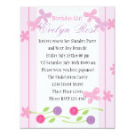 Butterflies and Roses 4.25x5.5 Paper Invitation Card