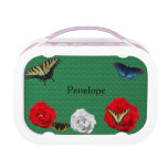 Butterflies and Roses Lunch Box