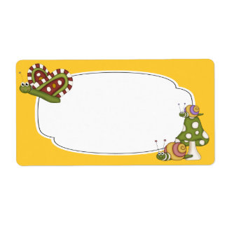 Butterflies and Snails Label Shipping Label