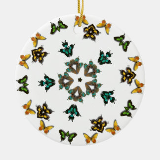 Butterflies and Star ornament