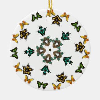 Butterflies and Star ornament