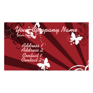 Butterflies and Stars 4 Business Card Templates