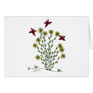 Butterflies and Sunflowers Greeting Card