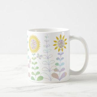 Butterflies and Sunflowers Design Classic White Coffee Mug