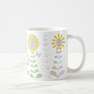 Butterflies and Sunflowers Design Coffee Mug