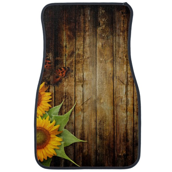 Butterflies and Sunflowers Front Car Mat