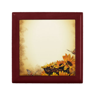 Butterflies and Sunflowers Keepsake Box