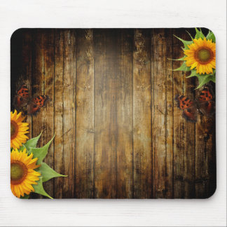 Butterflies and Sunflowers Mouse Pad