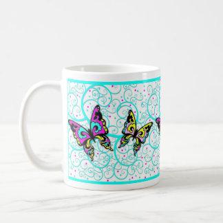 Butterflies and Swirls Coffee Mug
