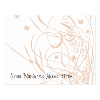 Butterflies and Swirls Floral Gift Certificate Post Card