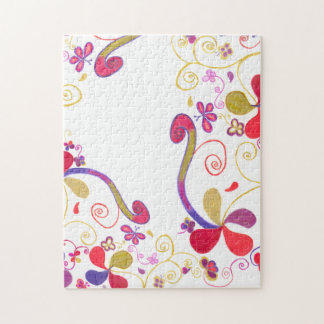 Butterflies and Swirls Puzzle