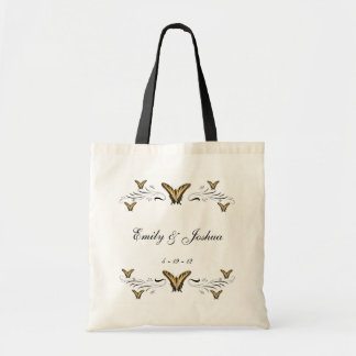 Butterflies and Swirls Tote Bag