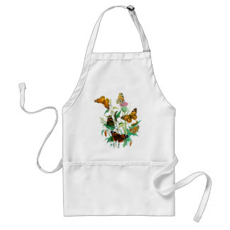 Butterflies and Thistle Adult Apron