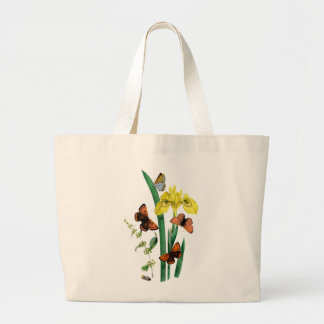 Butterflies and Yellow Iris Tote Bags