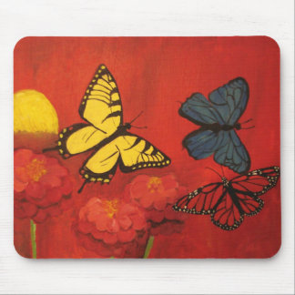Butterflies and Zinnias Mousepad