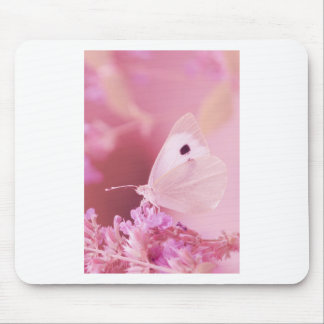 Butterflies Animals  Missing You  pink spring Mouse Pad